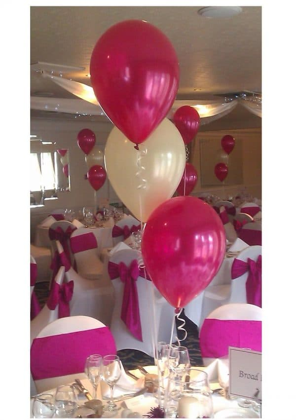 Bouquets of 3 heliu filled latex balloons
