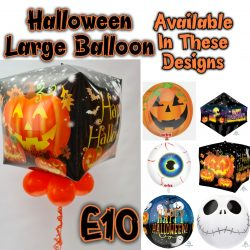 Large Floating Halloween Balloon From Cardiff Balloons