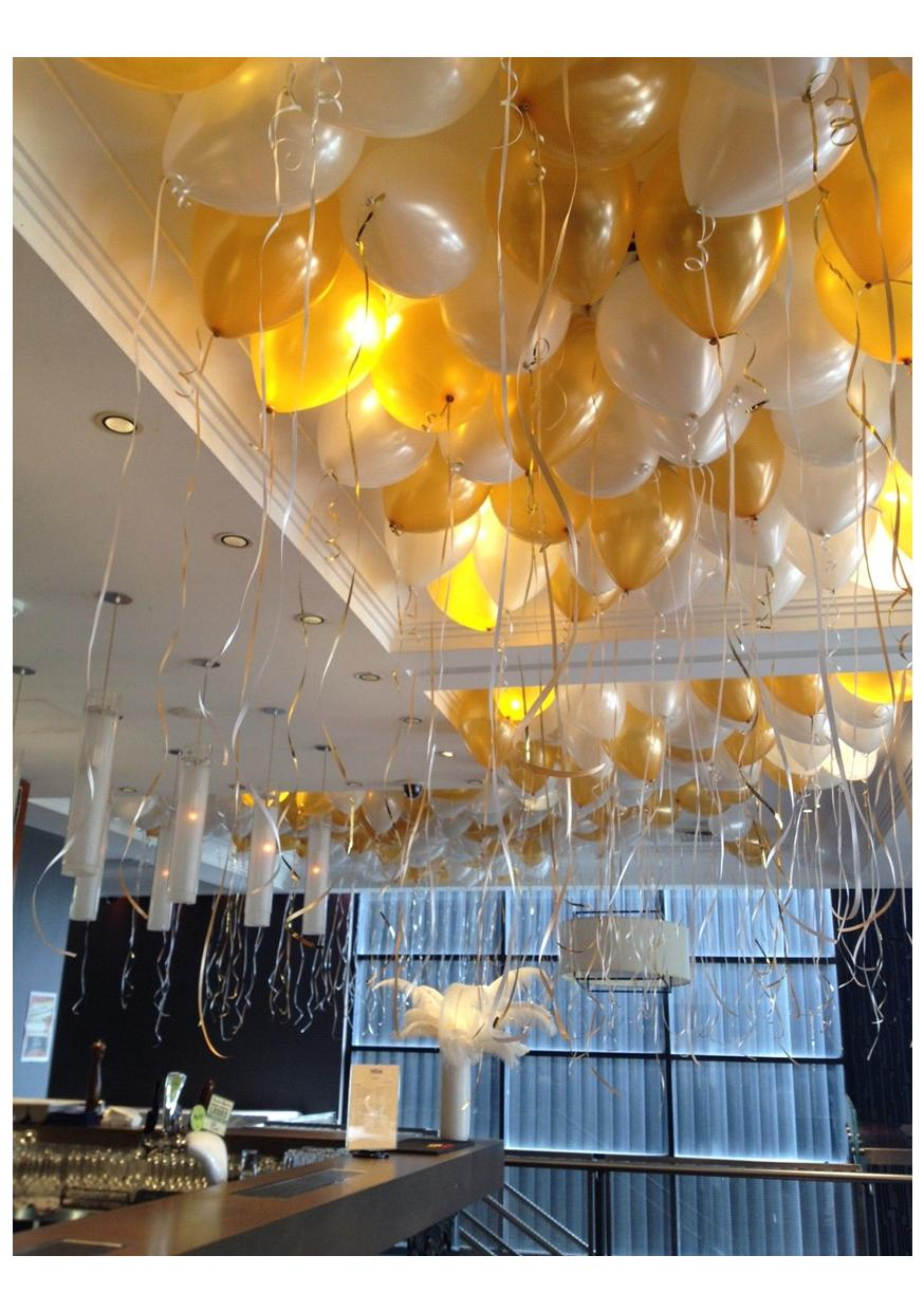 Loose Helium Filled Ceiling Balloons
