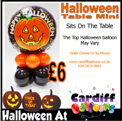 HAlloween Table MIni From Cardiff Balloons