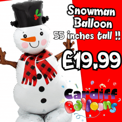 Giant Snowman Balloon Available From www.cardiffballoons.co.uk