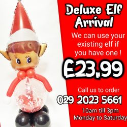 Deluxe Elf Arrival balloon From www.cardiffballoons.co.uk