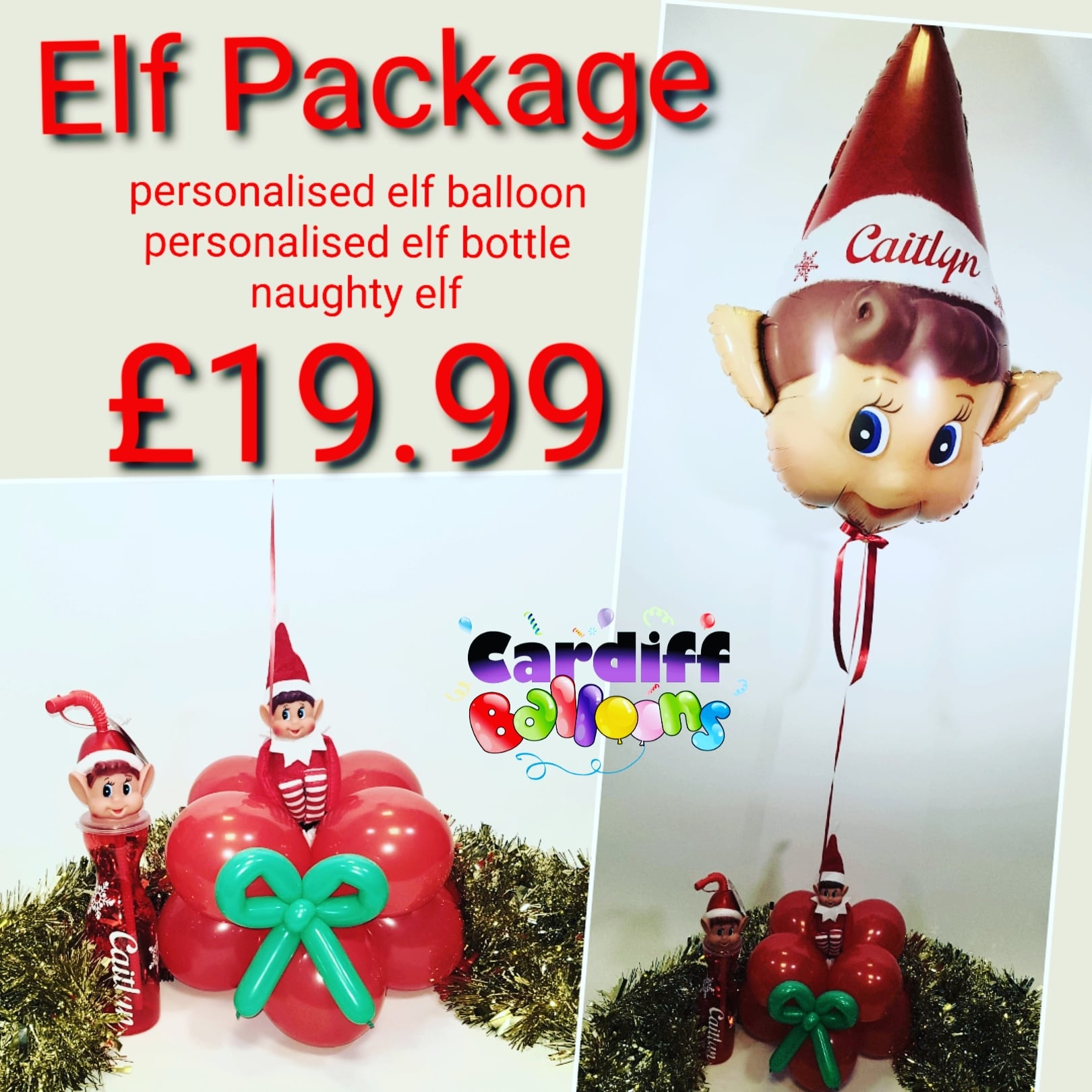 Elf Arrival Package From www.cardiffballoons.co.uk