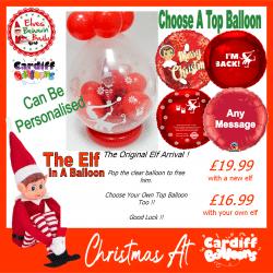 Naughty Elf In A Balloon