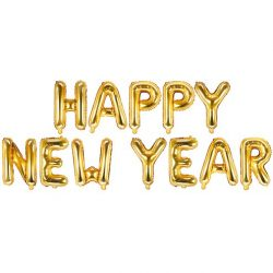 Happy New Year Balloon Banner Available From Cardiff Balloons