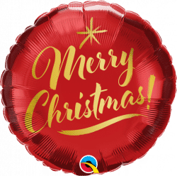 Merry Christmas Foil Balloon From Cardiff Balloons