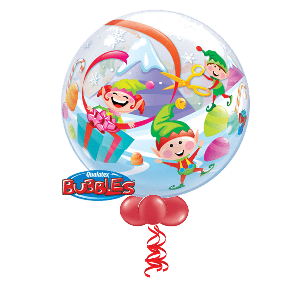 Large Elf Bubble Balloon From Cardiff Balloons