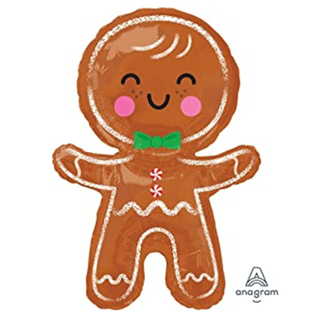 Large Gingerbread Man Balloon From Cardiff Balloons