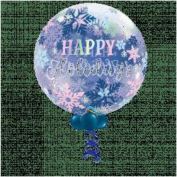 Happy Holidays Bubble Balloon From www.cardiffballoons.co.uk