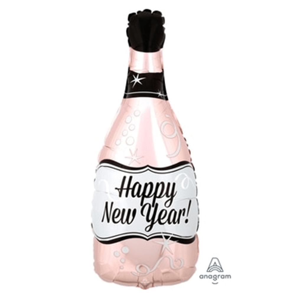 Rose Gold Happy New Year Foil Balloon from Cardiff Balloons