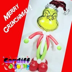 Christmas Grinch Balloon Sculpture From Cardiff Balloons