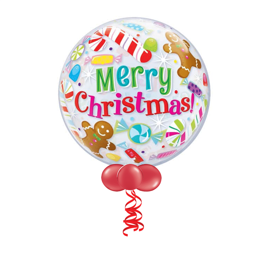 Christmas Bubble Balloons From Cardiff Balloons