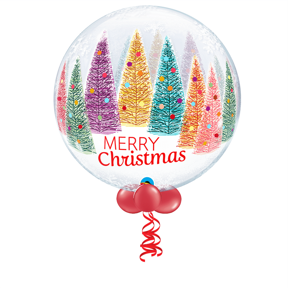Merry Christmas Tree Bubble Balloon From Cardiff Balloons