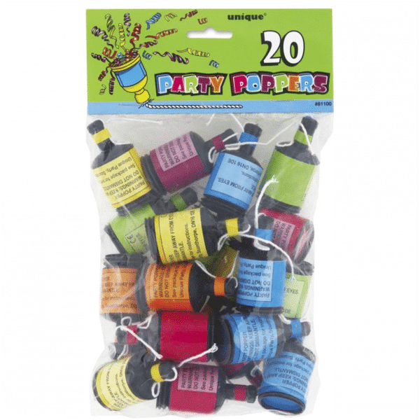 Party Poppers From Cardiff Balloons