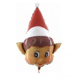 Large Personalised Elf Head Balloon From Cardiff Balloons
