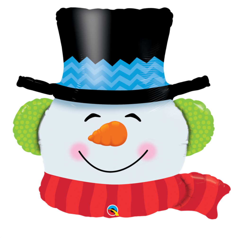 Large Helium Filled Snowman Balloon from Cardiff Balloons