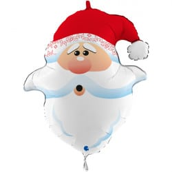 Large Santa head Balloon From Cardiff Balloons
