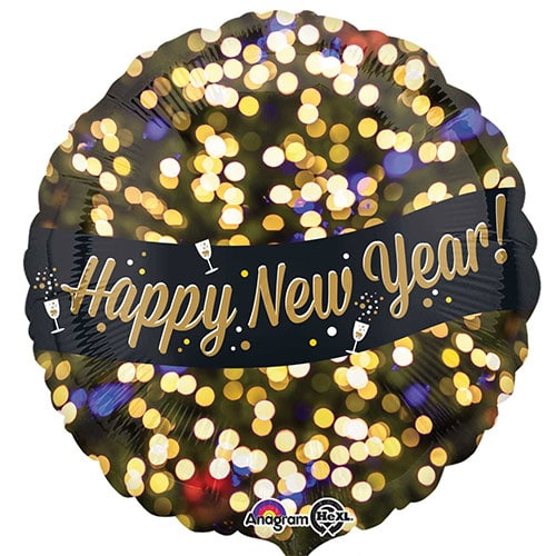 Happy NEw Year Foil Balloon Available From www.cardiffballoons.co.uk