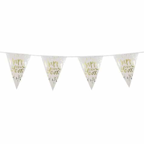 Happy New Year Bunting From Cardiff Balloons