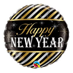 Happy New Year Foil Balloon Available From Cardiff Balloons