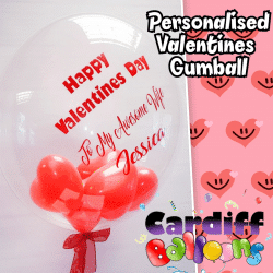 Valetines Day Personalised Balloon From Cardiff Balloons