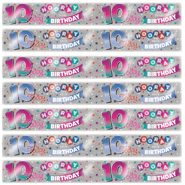 age 10 birthday banners from cardiff balloons