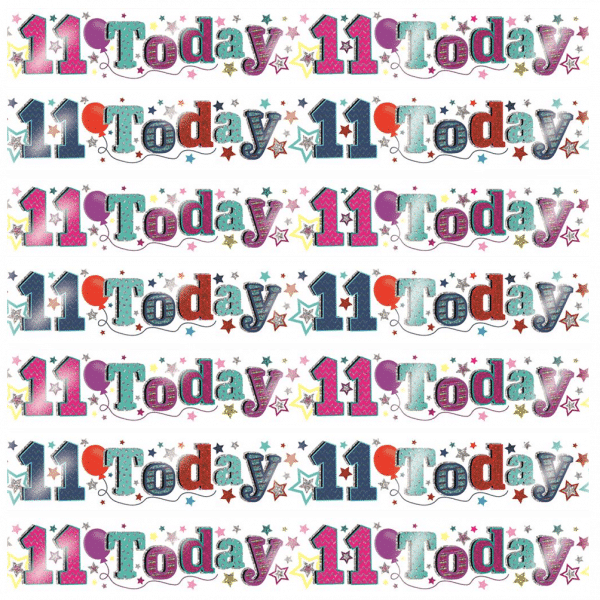 Age 11 birthday banners from cardiff balloons