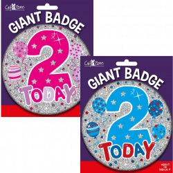large age 2 birthday badge from cardiff balloons