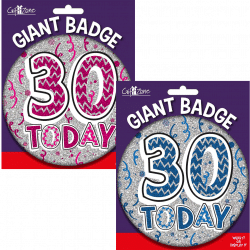 large age 30 birthday badge from cardiff balloons