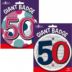 large age 50 birthday badge from cardiff balloons