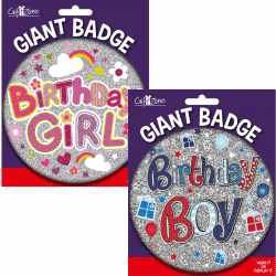 large birthday badge from cardiff balloons