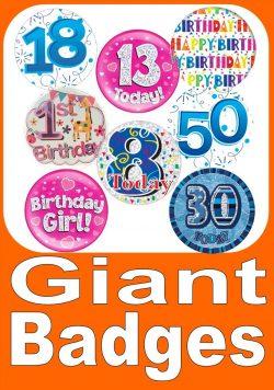 Large Birthday Badges