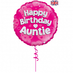 Happy Birthday Auntie Foil Balloon
