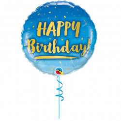 Helium Filled Happy Birthday Balloon