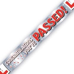 Passed Your Driving Test Banner Available From Cardiff Balloons