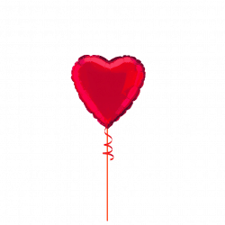 Single Red Foil Heart Balloon From Cardiff Balloons