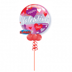 Valentines Day Bubble Balloons At www.cardiffballoons.co.uk