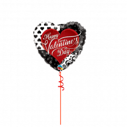 Happy Valentines Day Foil Balloon from Cardiff Balloons