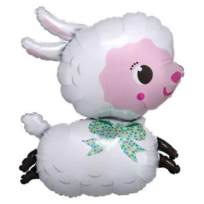 large helium filled sheep foil balloon from cardiff balloons