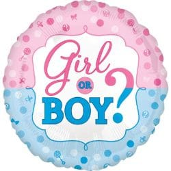 helium filled girl or boy foil balloon from cardiff balloons