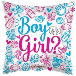 helium filled boy or girl foil balloon from cardiff balloons