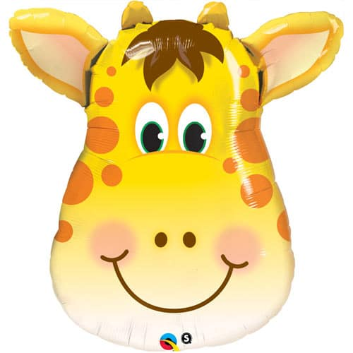 large helium filled giraffe head foil balloon from cardiff balloons