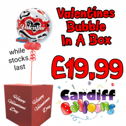 Valentines Day Bubble In A Box From Cardiff Balloons