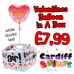 Valentines Day Balloon In A Box From Cardiff Balloons