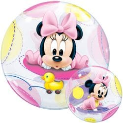 helium filled baby minnie mouse bubble balloon from cardiff balloons