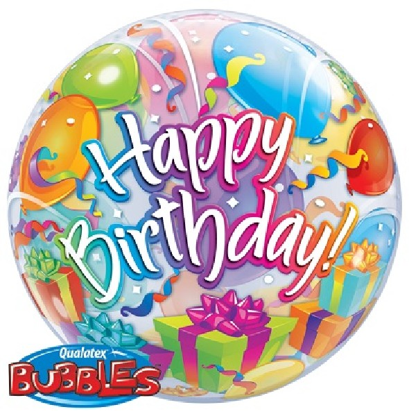 balloons and gifts themed birthday bubble balloon from cardiff balloons