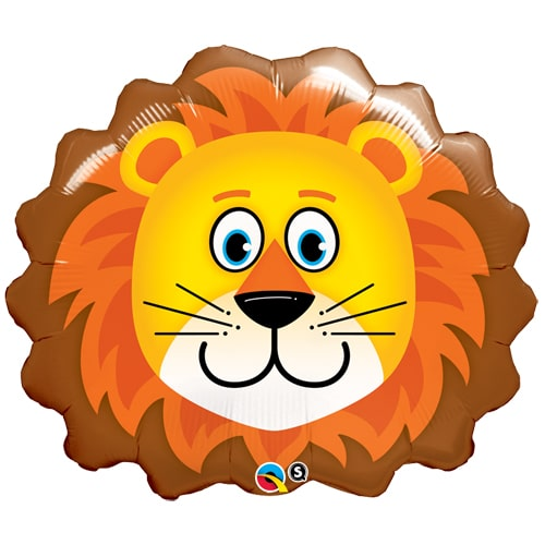 large helium filled lion foil balloon from cardiff balloons