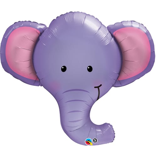 large helium filled elephant head foil balloon from cardiff balloons