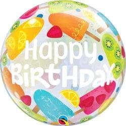 ice lolly themed birthday bubble balloon from Cardiff Balloons