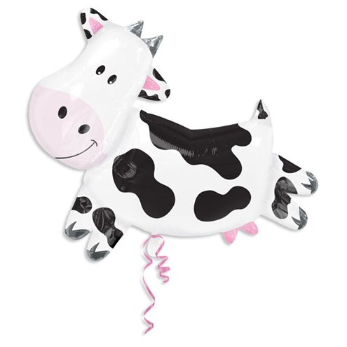 large helium filled cow balloon from cardiff balloons